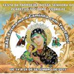 Novenario de Nossa Senhora do Perpétuo Socorro de 14 a 24 de Setembro de 2015 em Cedro – PE