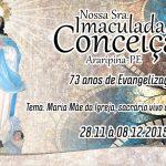 Programação da festa de Nossa senhora Imaculada Conceição, de Araripina