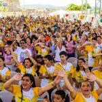 Centenas de missionários compareceram neste momento de formação e oração